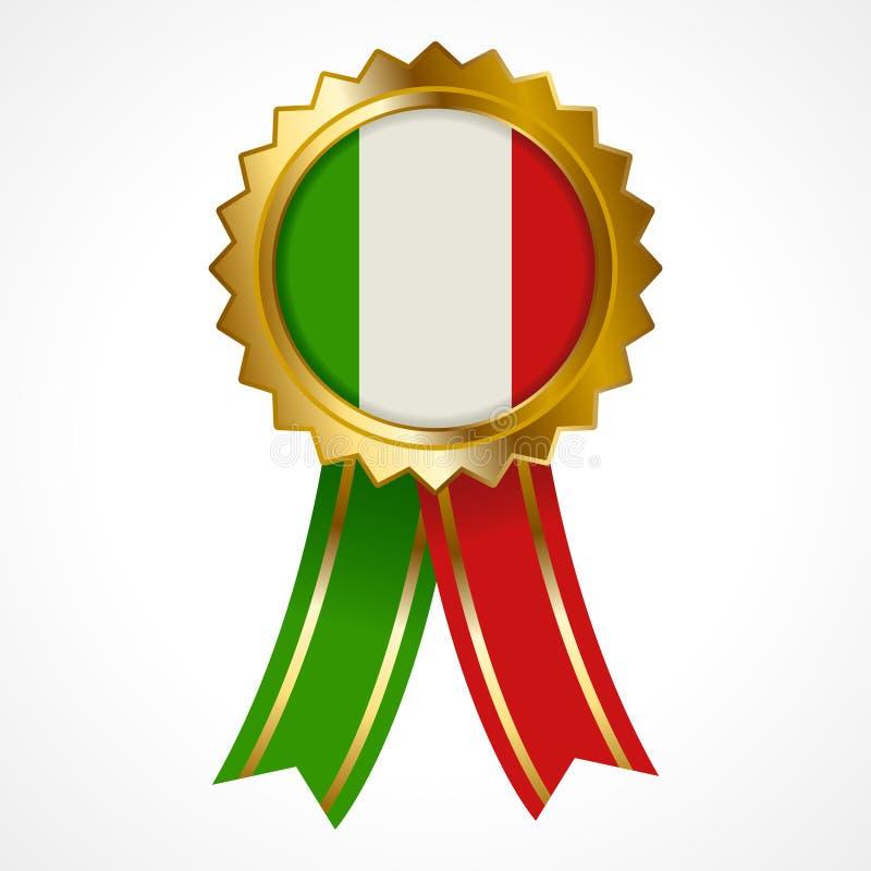 Odznaka lub medal Włochy insygnia royalty ilustracja