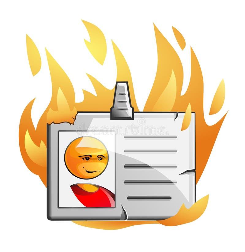 odznaka płomień zdjęcia stock