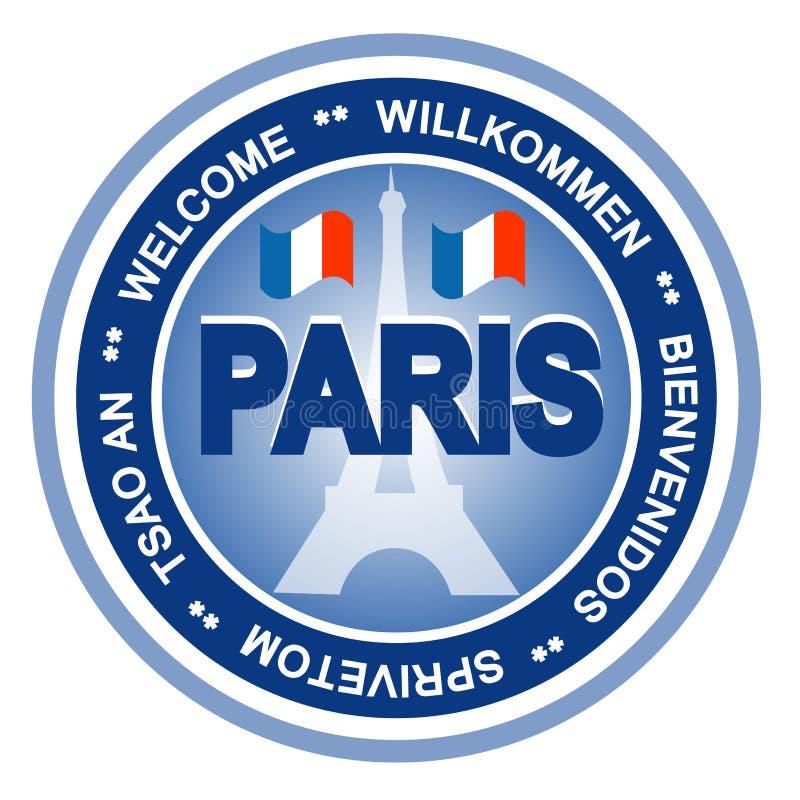 odznaka Paris ilustracji