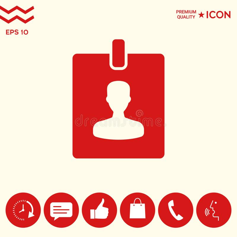Odznaka symbolu ikona ilustracji