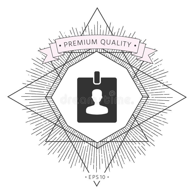 Odznaka symbolu ikona ilustracja wektor