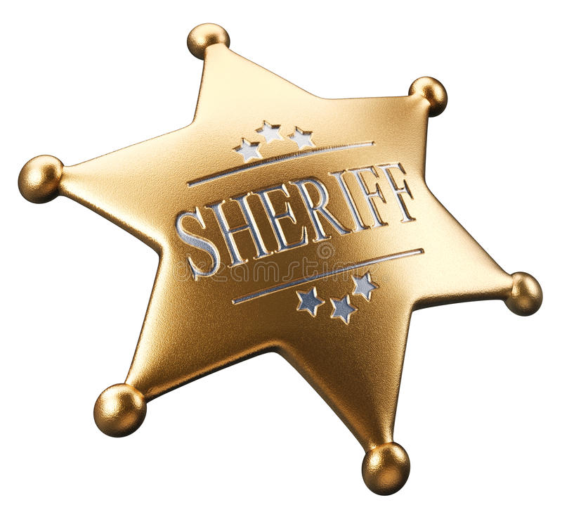 odznaka szeryf s royalty ilustracja