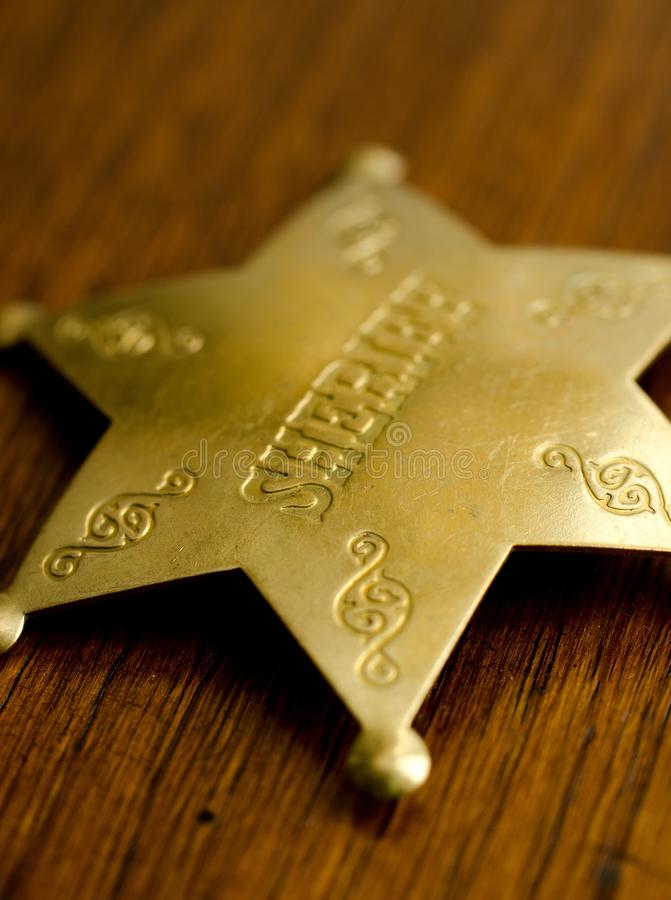 odznaka szeryf s obraz stock