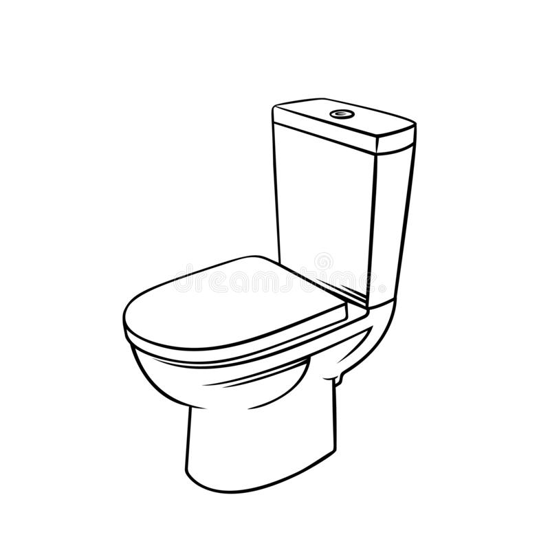 Odznaka toaletowy kontur royalty ilustracja