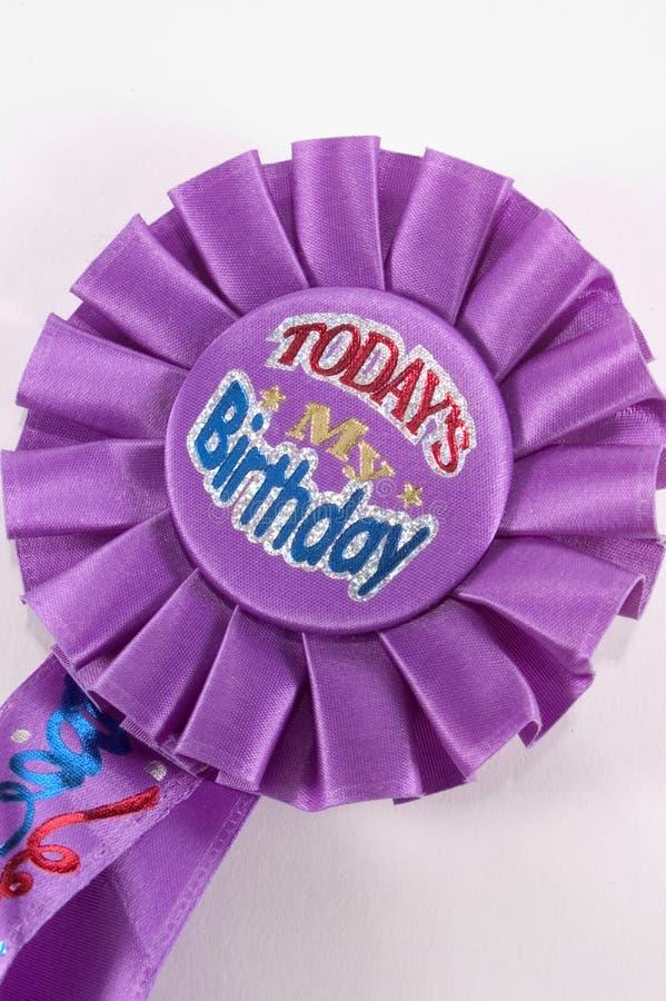 Download Odznaka urodziny zdjęcie stock. Obraz złożonej z faborek - 33118