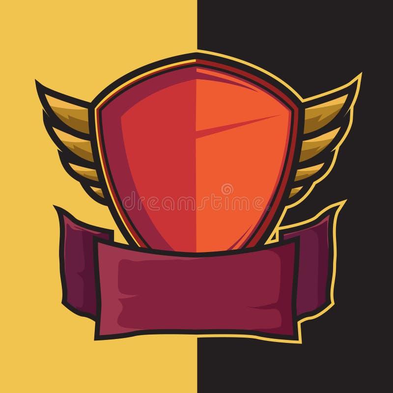 Odznaka uskrzydlająca osłona dla sporta logo projekta elementów ilustracja wektor
