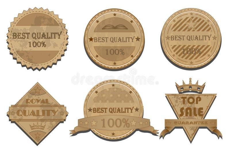 Odznaka wektoru set ilustracji