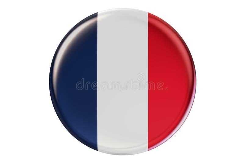 Odznaka z flaga Francja, 3D rendering royalty ilustracja