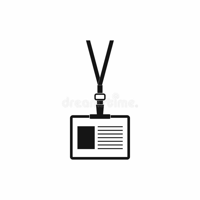Odznaka z neckband ikoną, prosty styl ilustracja wektor