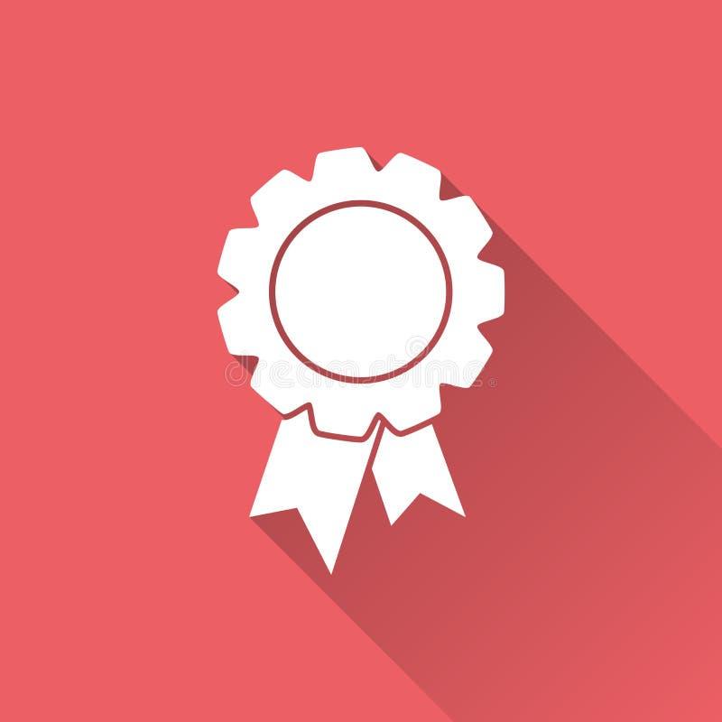 Odznaka z tasiemkową ikoną royalty ilustracja