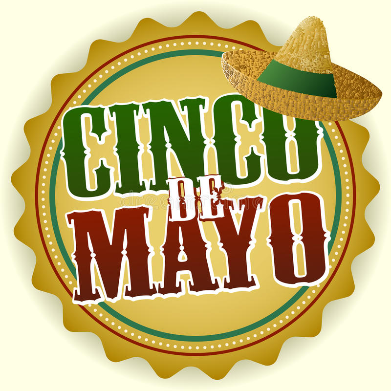 odznaki cinco de Mayo ilustracji