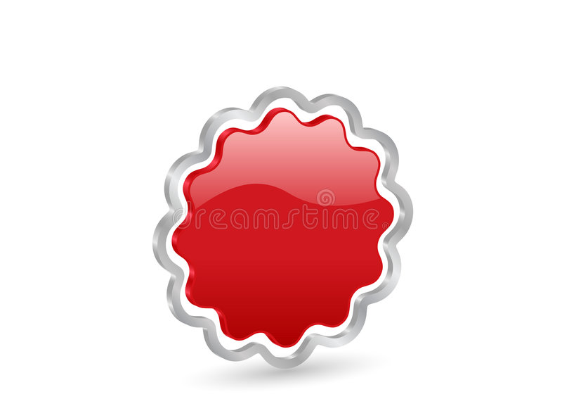 odznaki czerwony 3 d ilustracji