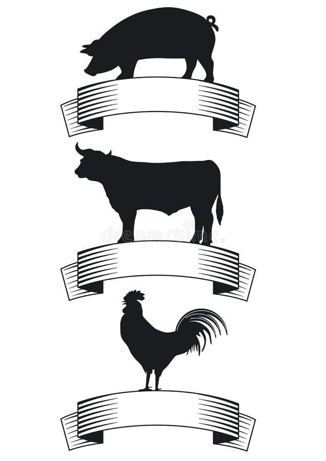 Odznaki dla produktów rolniczy ilustracji