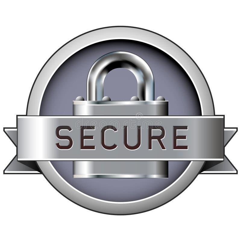 odznaki druku bezpiecznie sieć ilustracji