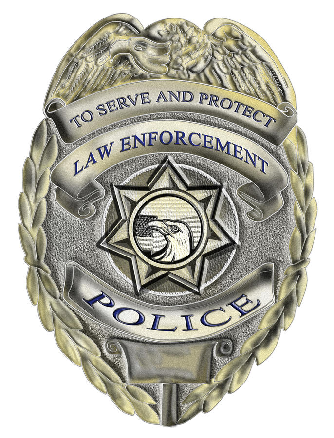 odznaki egzekwowania prawa polici szeryf ilustracji
