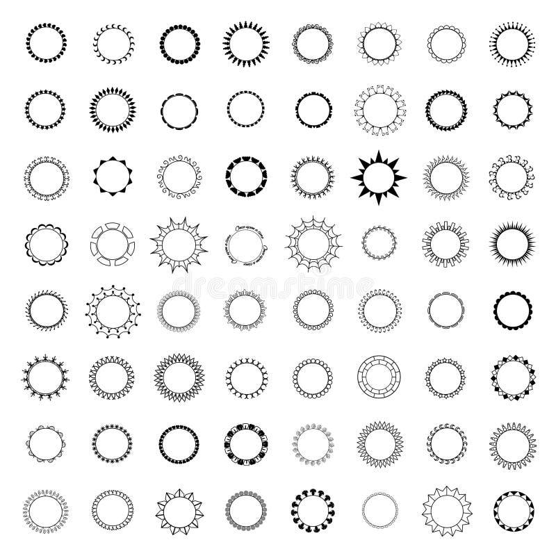46 odznaki i loga placeholder guzika ramy ilustracji