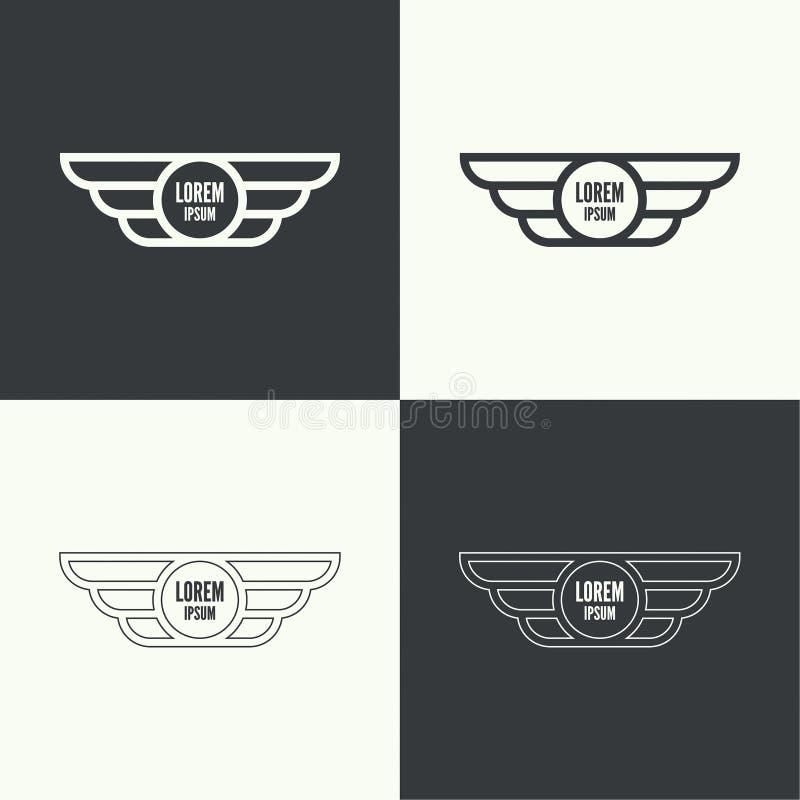 odznaki ilustraci wektoru skrzydła ilustracji