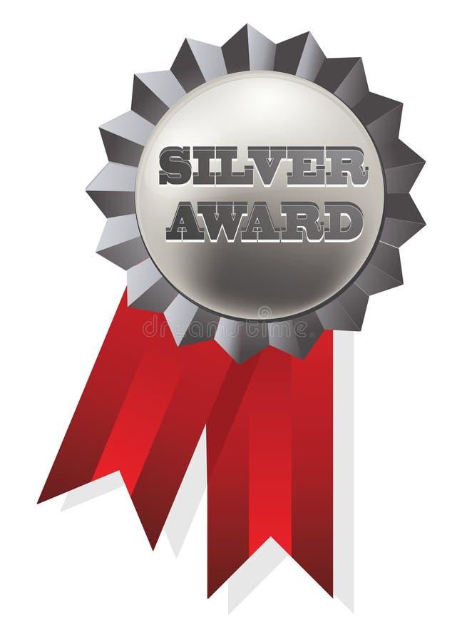 odznaki srebro royalty ilustracja