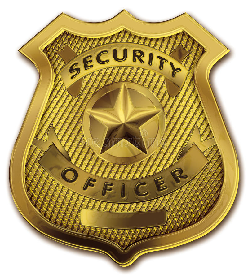 odznaki strażnika oficera ochrona ilustracji