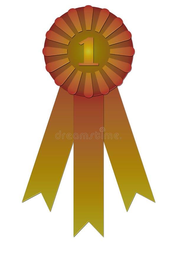odznaki wstążkę nagrody royalty ilustracja