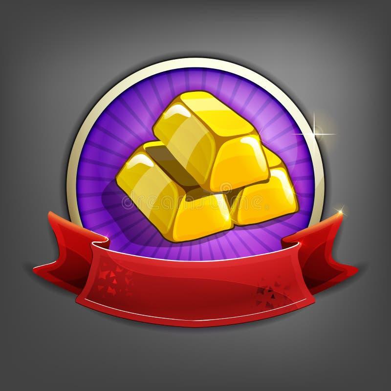 Odznaki złociści bary ilustracji