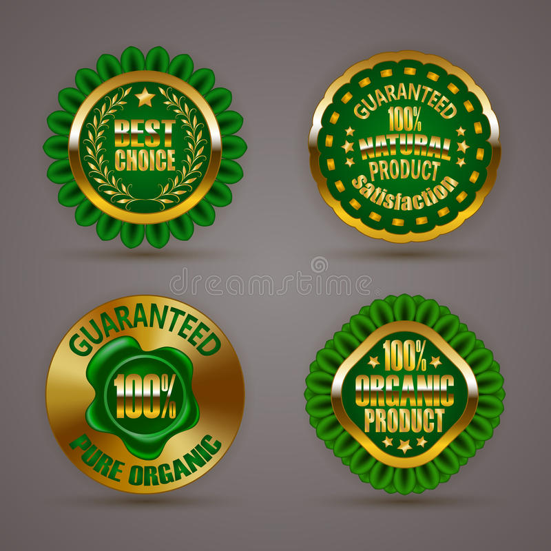Download Odznaki złote ilustracja wektor. Ilustracja złożonej z target199 - 57656651