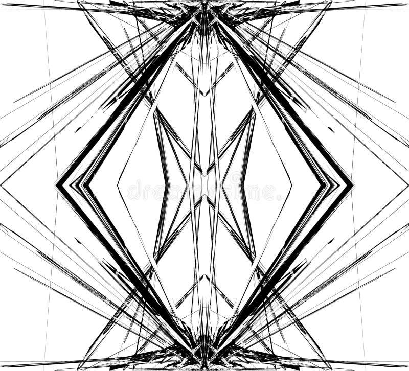 Odzwierciedlająca siatka siatka abstrakcjonistyczny geometryczny wzór, element,/ ilustracji