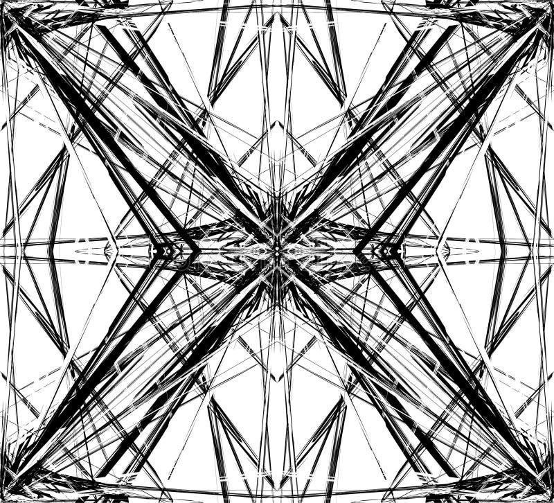 Odzwierciedlająca siatka siatka abstrakcjonistyczny geometryczny wzór, element,/ royalty ilustracja