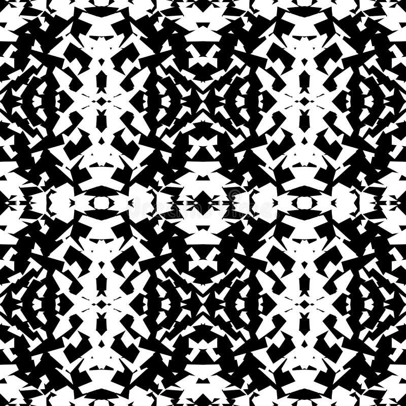 Odzwierciedlający geometryczny wzór Powtarzalny monochromatyczny abstrakcjonistyczny backg ilustracji