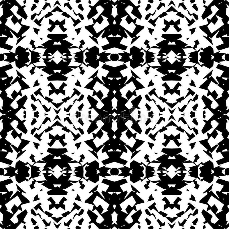 Odzwierciedlający geometryczny wzór Powtarzalny monochromatyczny abstrakcjonistyczny backg royalty ilustracja