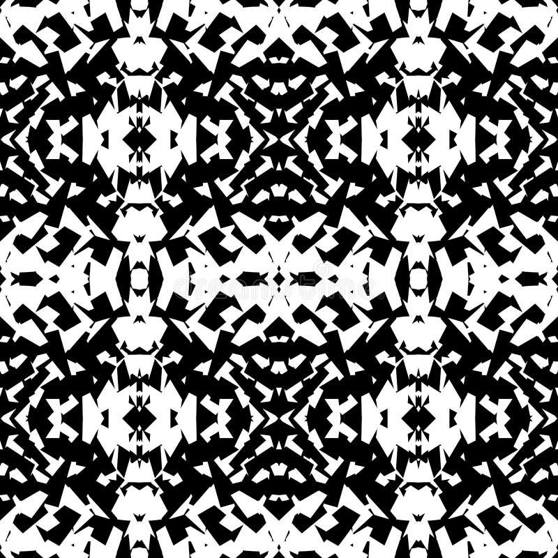 Odzwierciedlający geometryczny wzór Powtarzalny monochromatyczny abstrakcjonistyczny backg ilustracja wektor