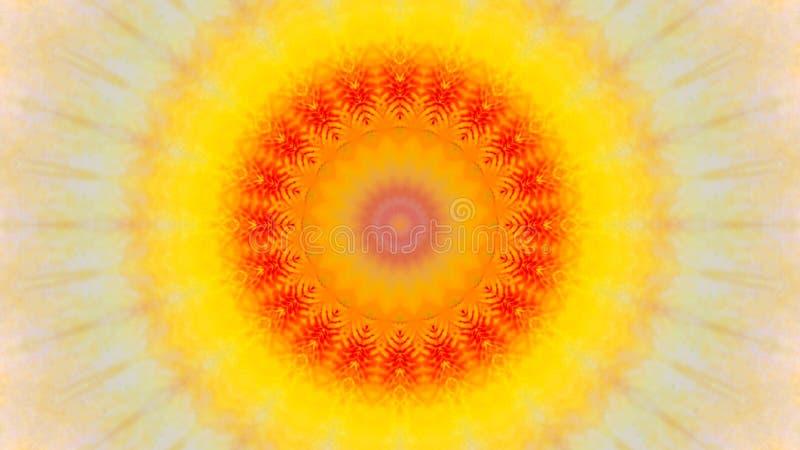 Odzwierciedlający skutek irysowy kwiat ilustracja wektor