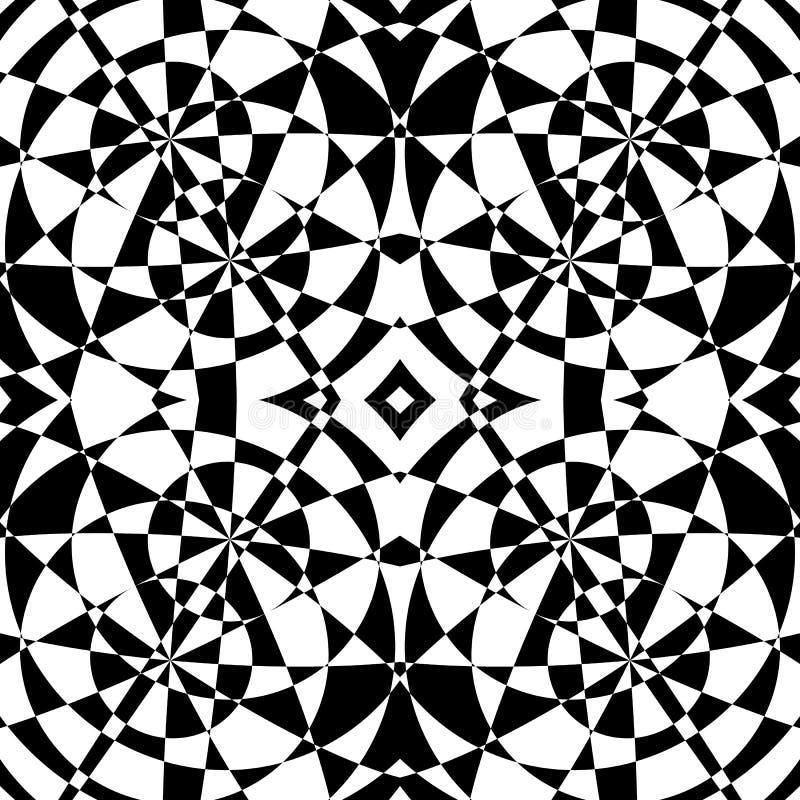 Odzwierciedlający symetryczny wzór Geometryczny monochromatyczny tło T royalty ilustracja