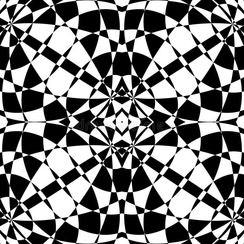 Odzwierciedlający symetryczny wzór Geometryczny monochromatyczny tło T ilustracja wektor