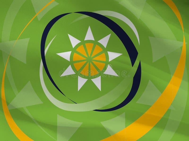 OECS, Organization of Eastern Caribbean States flag stock photo