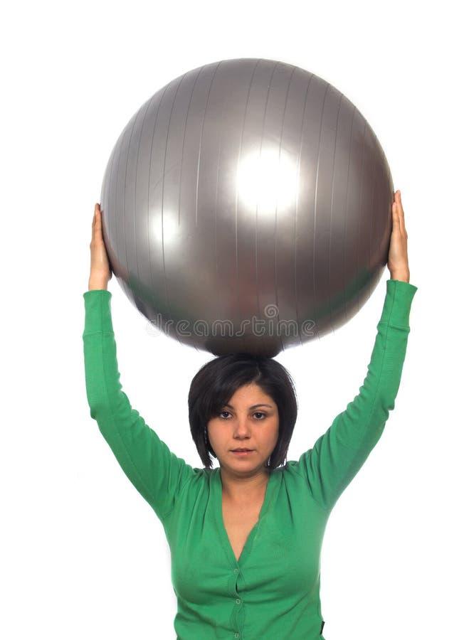 Oefen bal uit royalty-vrije stock foto