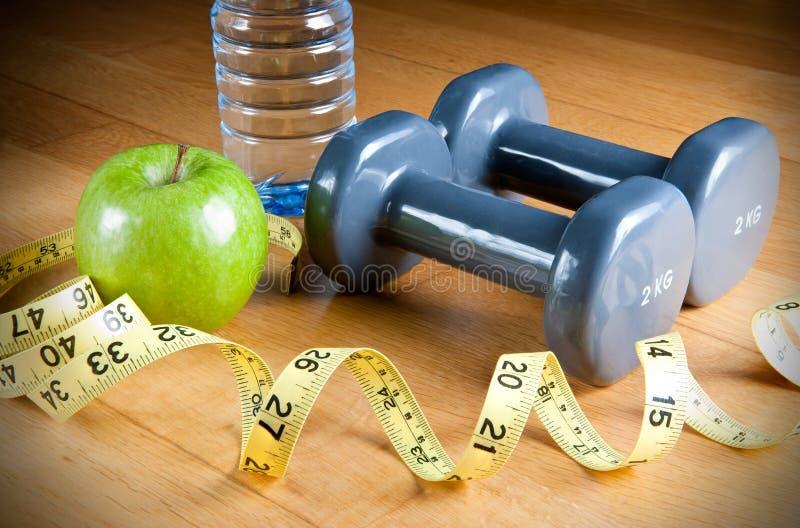 Oefening en Gezond Dieet royalty-vrije stock fotografie