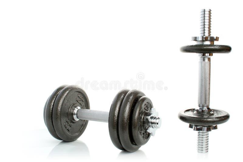 Oefening - gewichten stock foto