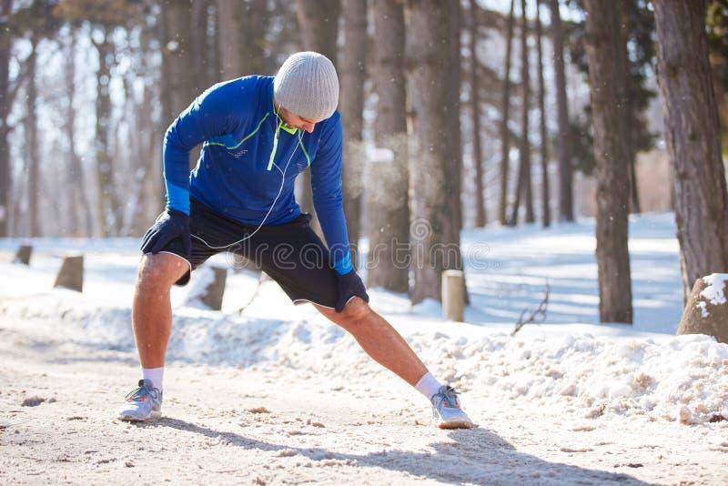 Oefeningen in de winter openlucht royalty-vrije stock foto's