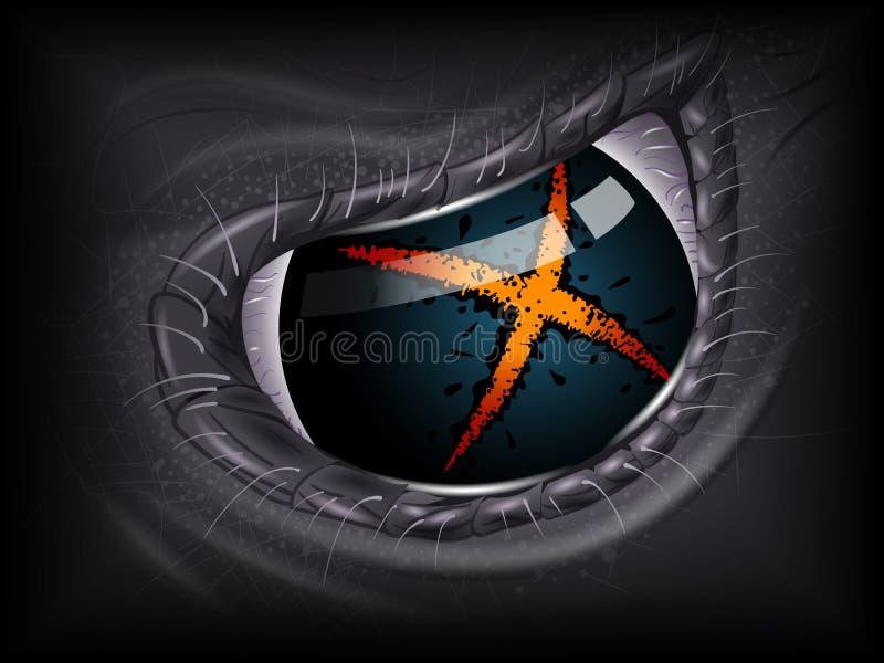 Oeil étranger Image 3D réaliste illustration libre de droits