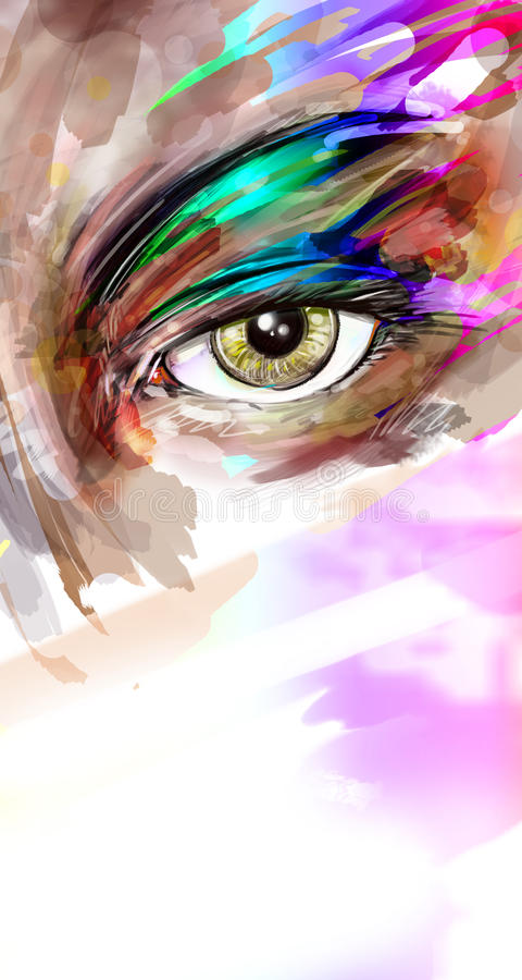 Oeil illustration libre de droits