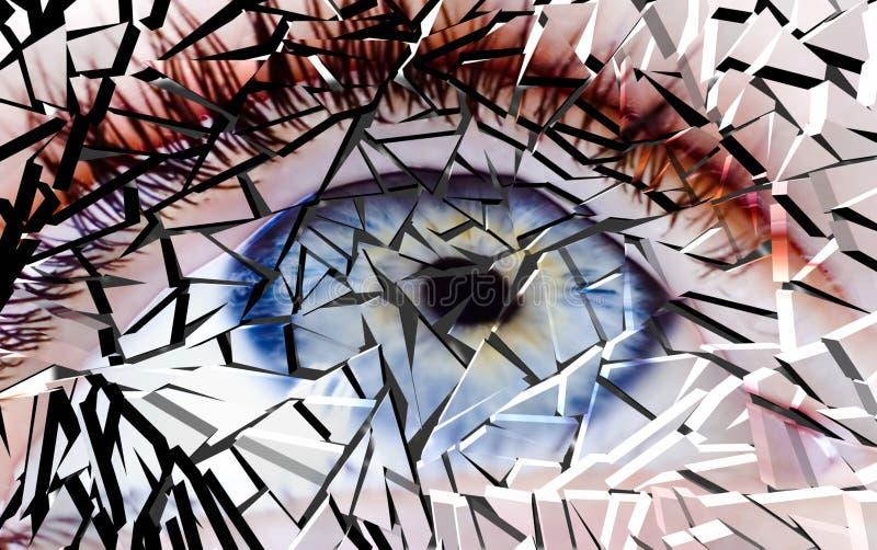 Oeil cassé illustration de vecteur