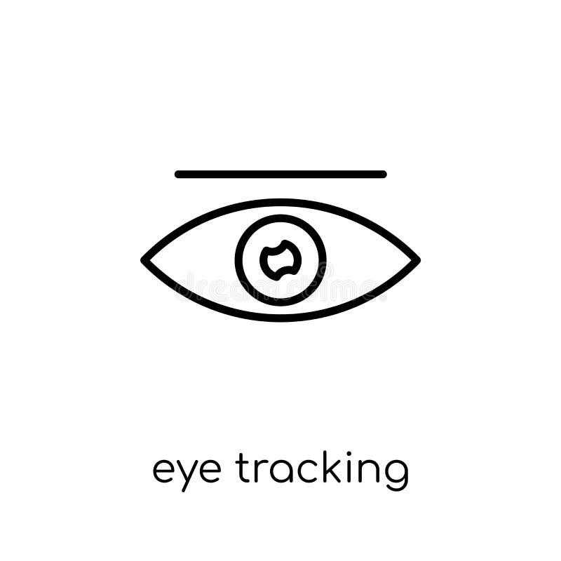 Oeil dépistant l'icône  illustration stock