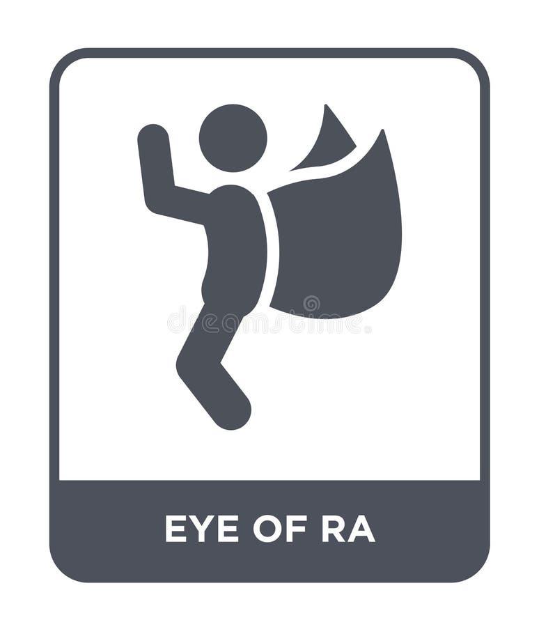 oeil d'icône de Ra dans le style à la mode de conception oeil d'icône de Ra d'isolement sur le fond blanc oeil d'appartement simp illustration de vecteur