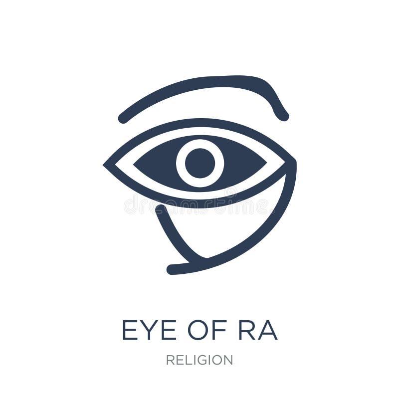 Oeil d'icône de Ra Oeil plat à la mode de vecteur d'icône de Ra sur le backg blanc illustration de vecteur