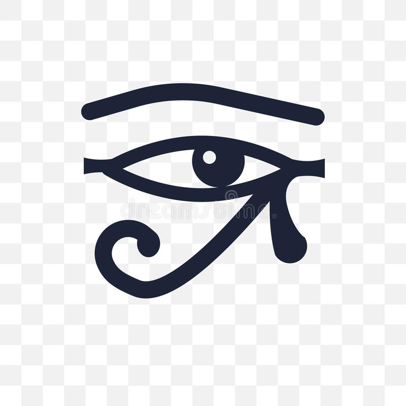 Oeil d'icône transparente de Ra Oeil de conception de symbole de Ra de Religio illustration de vecteur