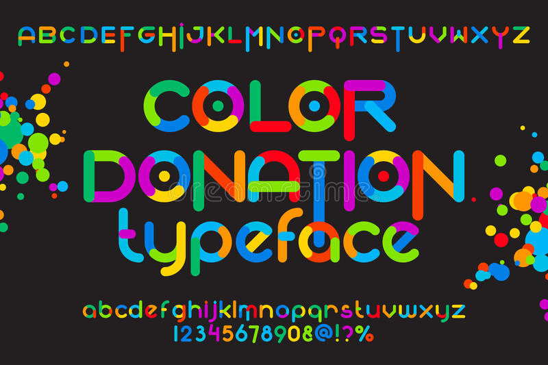 Oeil d'un caractère en donation de couleur illustration stock