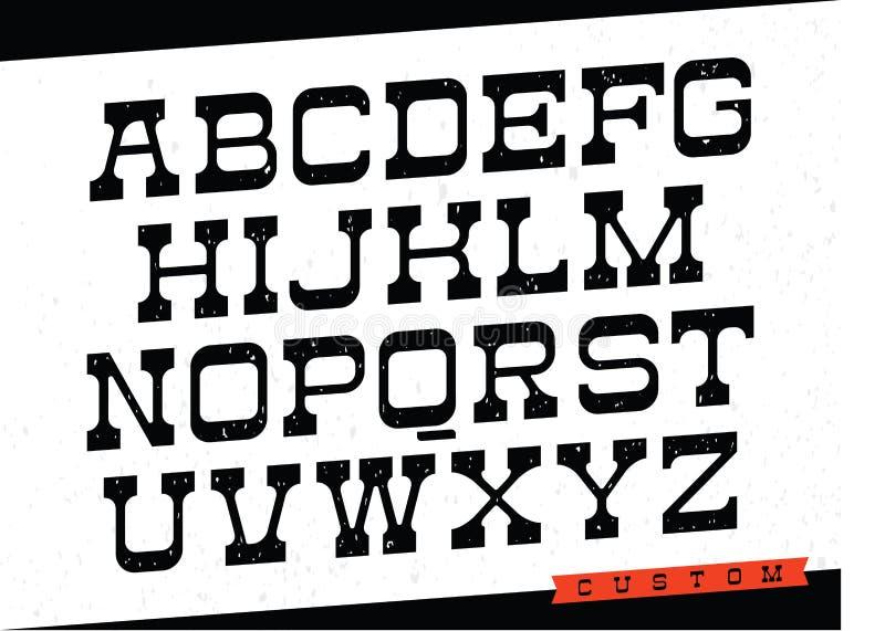 Oeil d'un caractère occidental Dirigez l'alphabet avec les lettres latines dans le thème noir et blanc illustration libre de droits