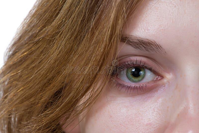 Oeil d'une fille photographie stock libre de droits