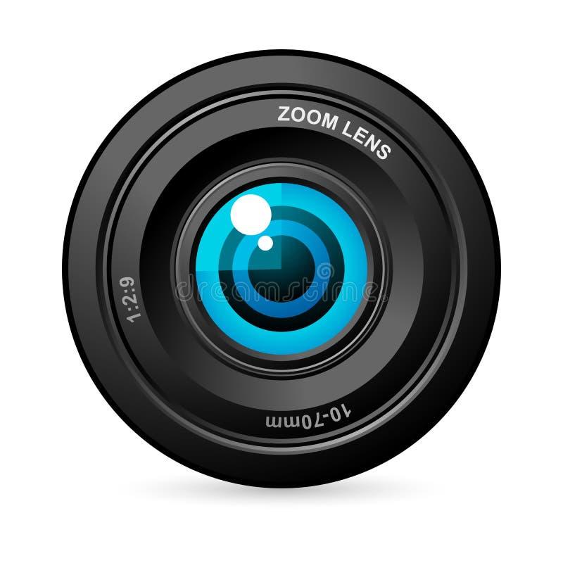 Oeil dans l'objectif de caméra illustration libre de droits